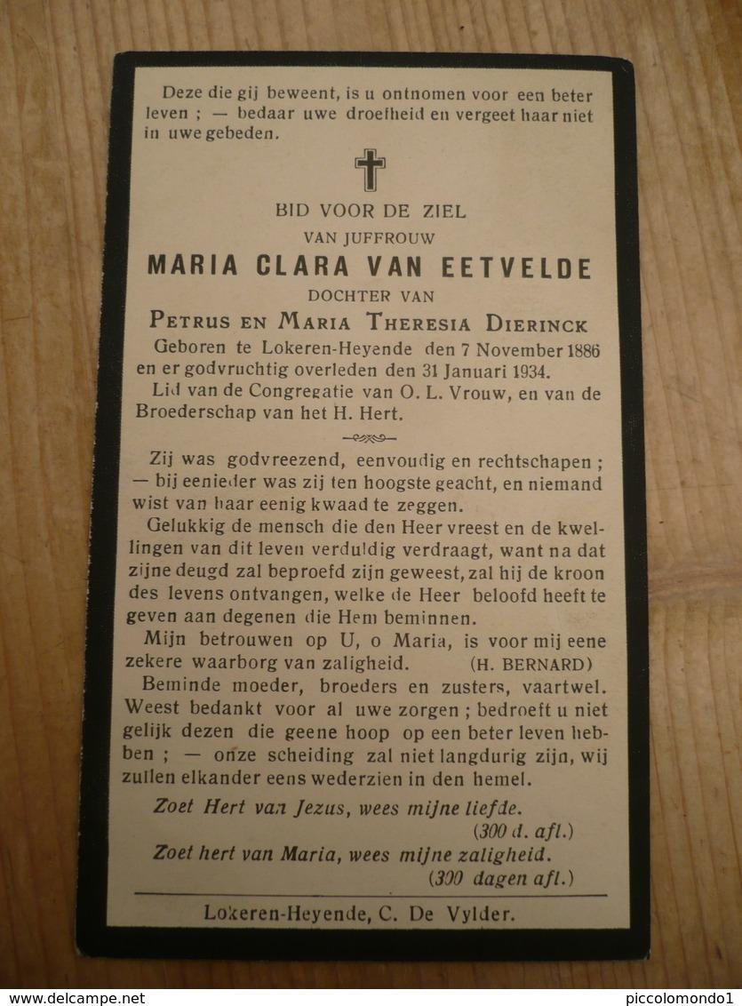 Lokeren Heiende Maria Van Eetvelde 1886 1934 - Images Religieuses