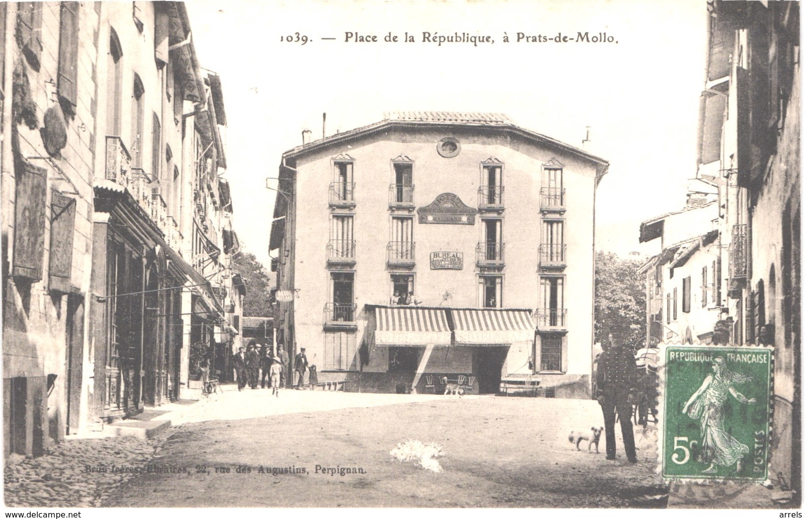FR66 PRATS DE MOLLO - Brun 1039 - Place De La République - Animée - Belle - Autres Communes