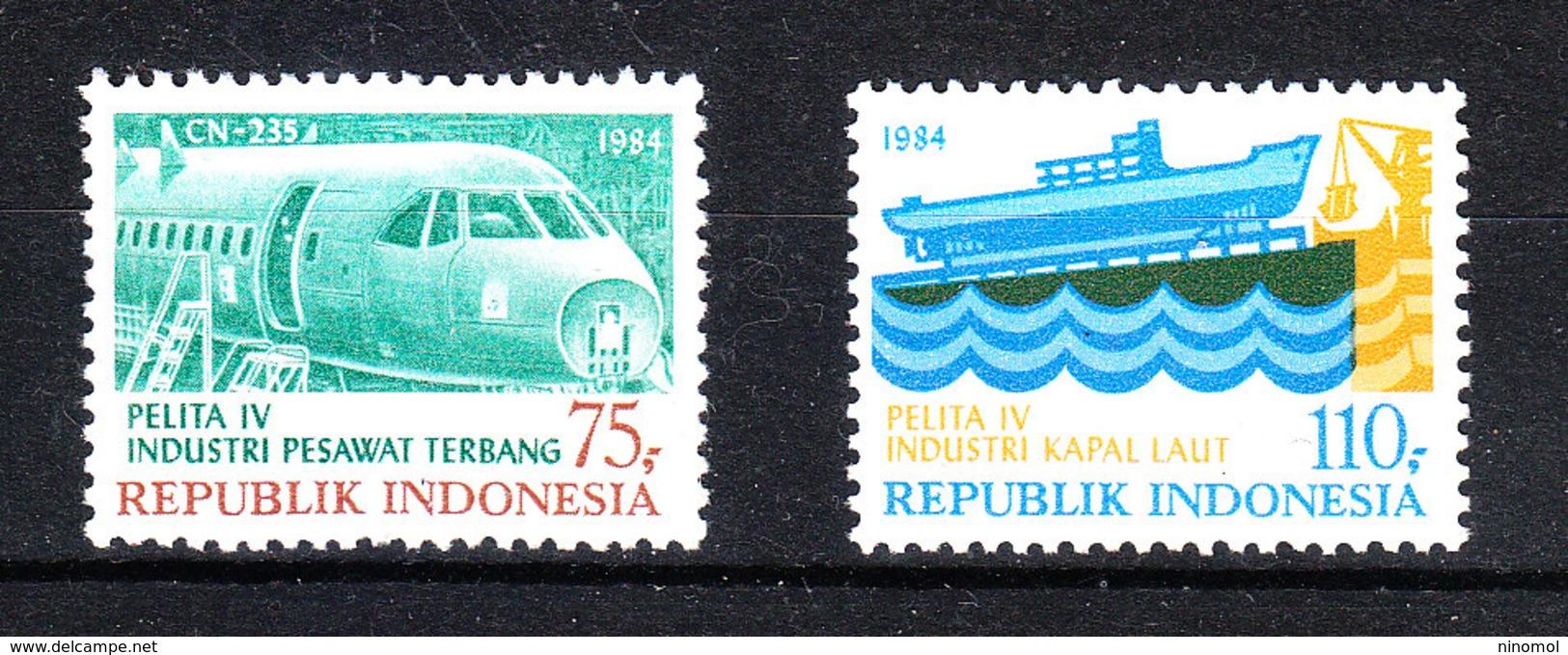 Indonesia - 1980. Sviluppo Industriale: Costruzioni Aeronautiche.Industrial Development: Aeronautical Constructions.MNH - Fabbriche E Imprese