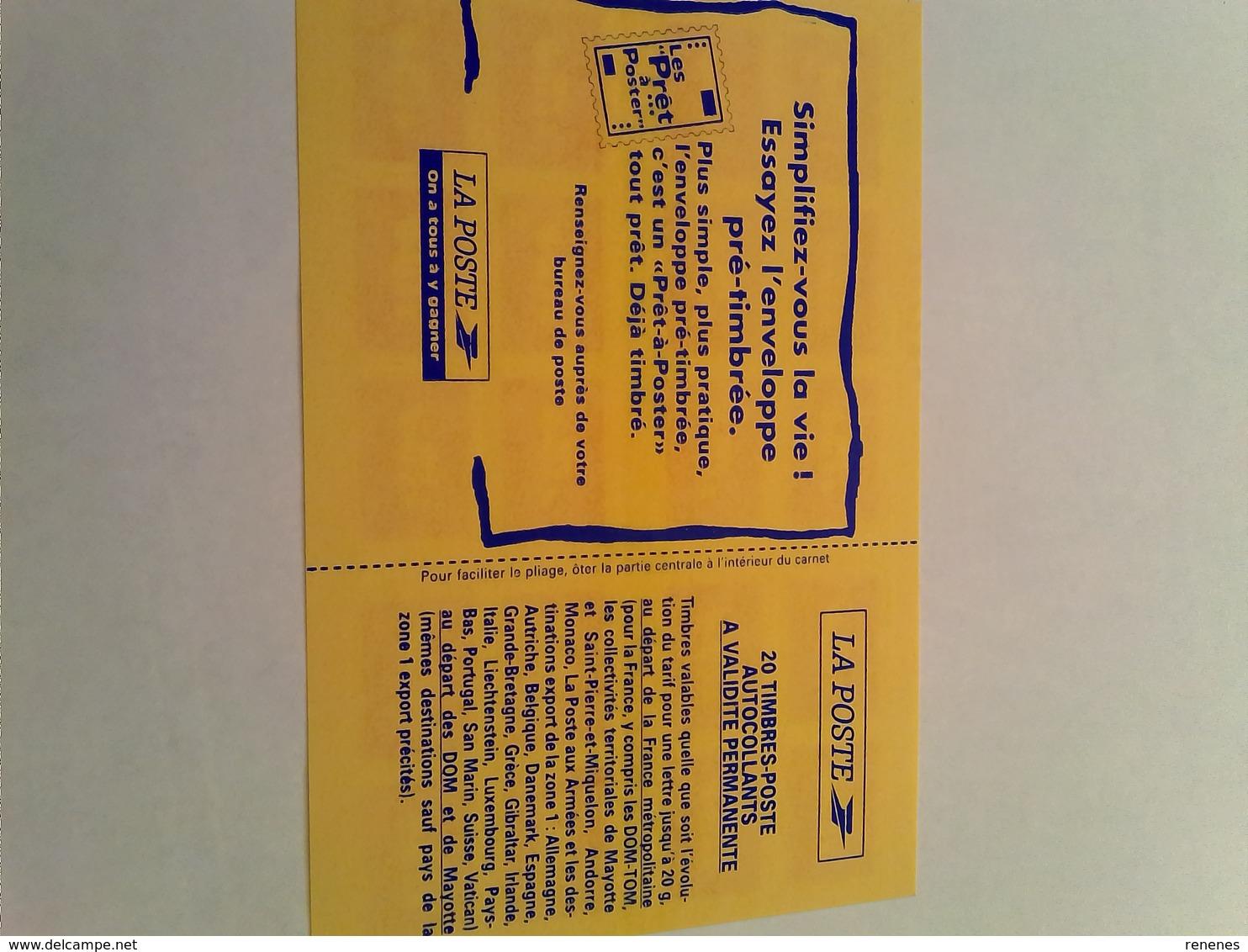 Carnet De 20 Timbres Autocollants - Carnets