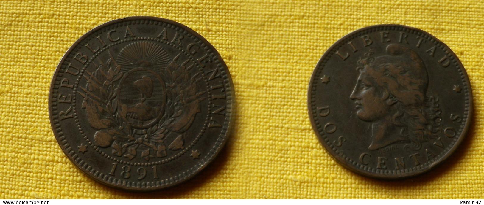 Argentine 2 Centavos 1891   Km#33  Bronze     TTB+ - Argentine