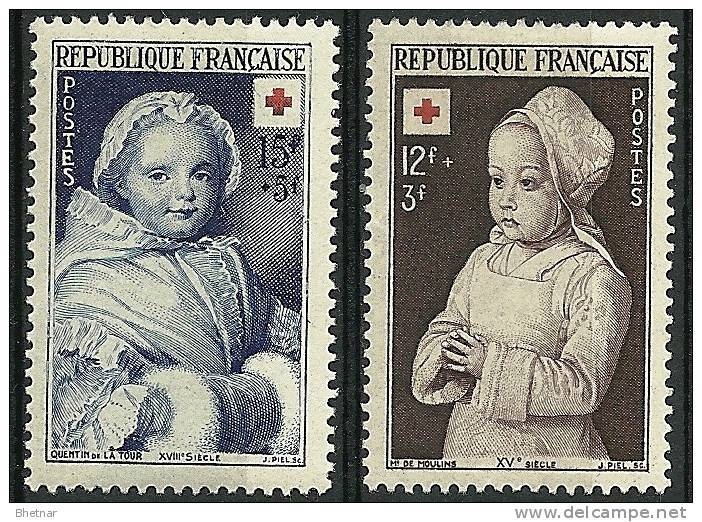 """FR YT 914 & 915 """" Croix-Rouge """" 1951 Neuf* - Unused Stamps"""