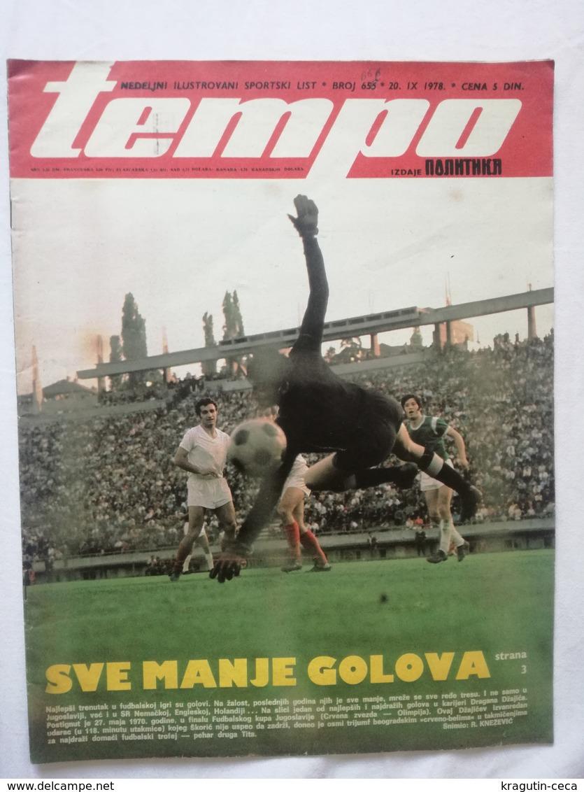 1978 TEMPO YUGOSLAVIA SERBIA SPORT FOOTBALL MAGAZINE NEWSPAPERS JOCKEY HORSE SHOW RED STAR PARTIZAN DINAMO DRESDEN RIOTS - Otros