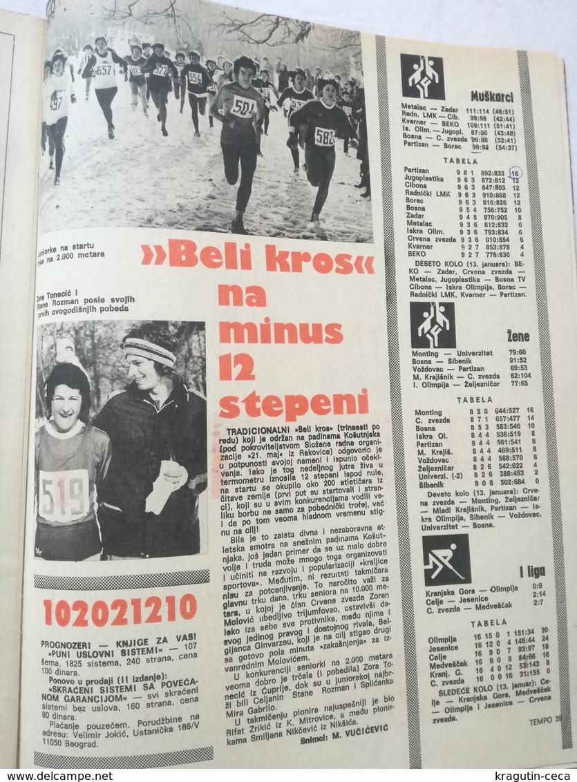 1979 TEMPO YUGOSLAVIA SERBIA SPORT FOOTBALL MAGAZINE NEWSPAPERS DZAJIC RED STAR Joe Frazier AIBA BOX BOXING ARMY OLYMPIC - Otros