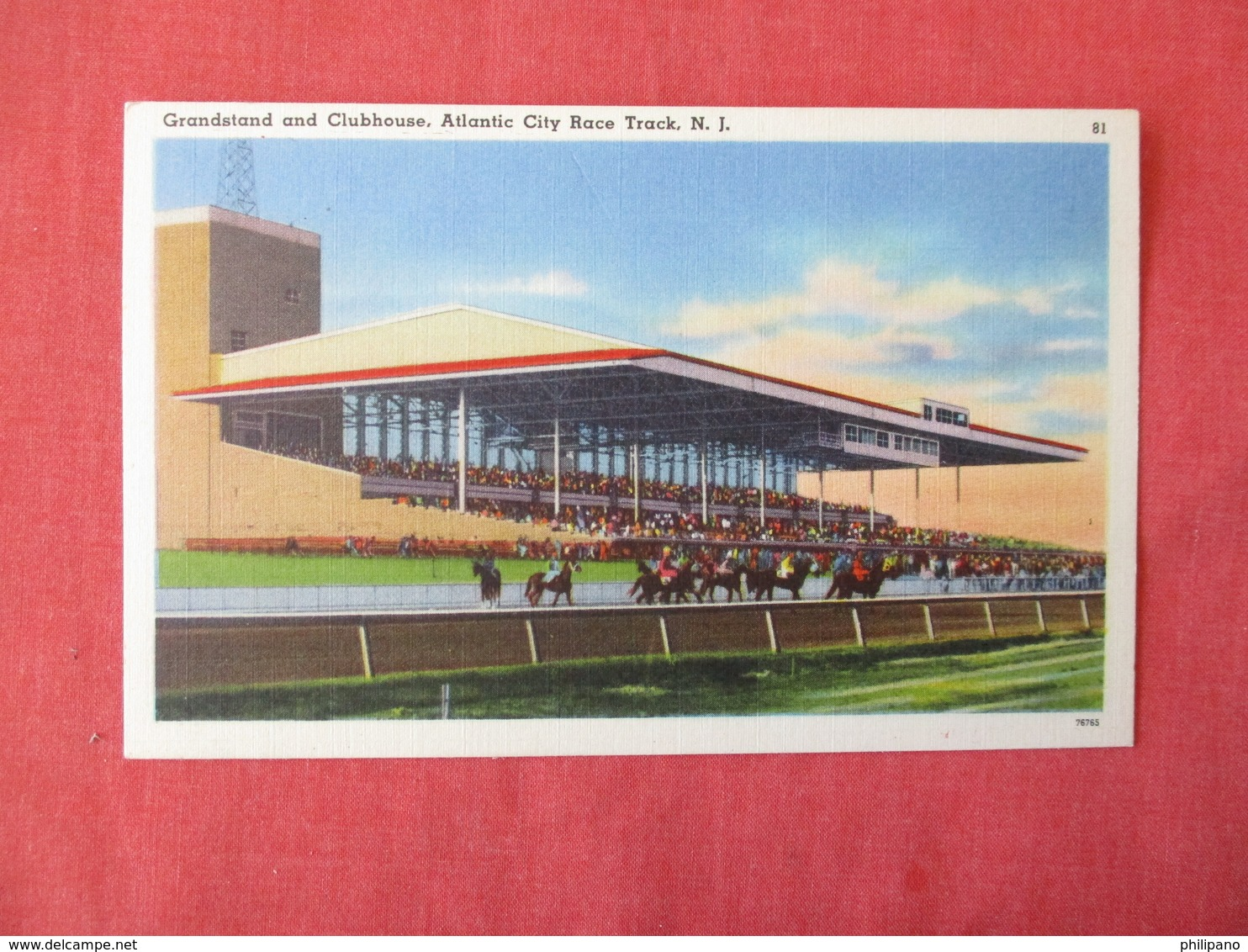 Horse Racing    Grand Stand & Clubhouse Atlantic City Race Track NJ    Ref 3170 - Cartes Postales