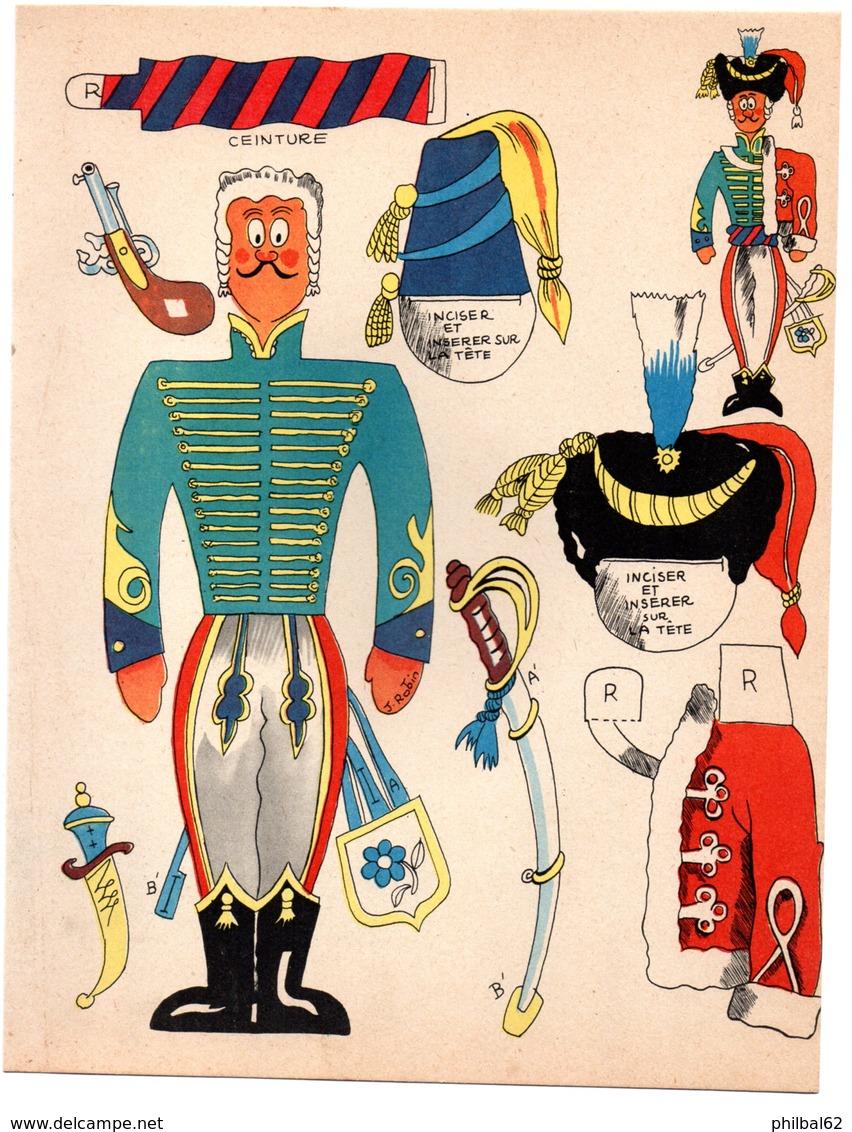 Découpage En Carton, Personnage Humoristique. Editions Mondiales, L'Intrépide. Le Hussard. - Victorian Die-cuts