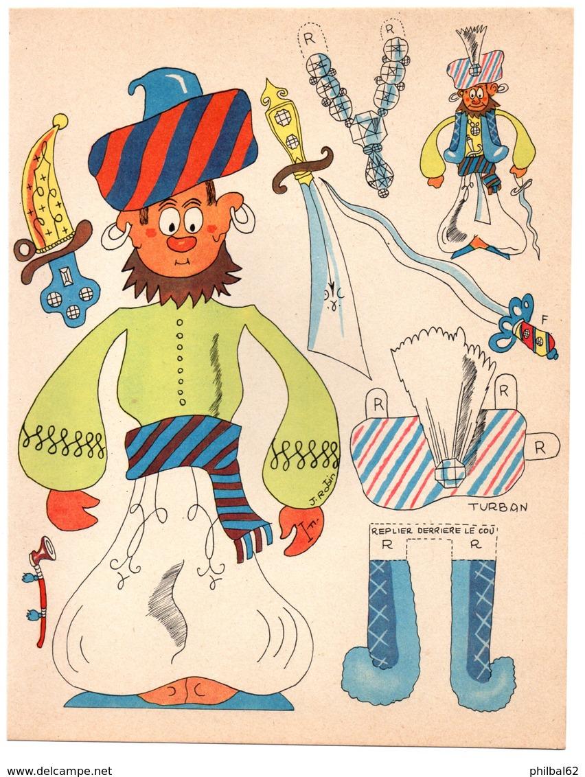Découpage En Carton, Personnage Humoristique. Editions Mondiales, L'Intrépide. Le Sultan. - Victorian Die-cuts