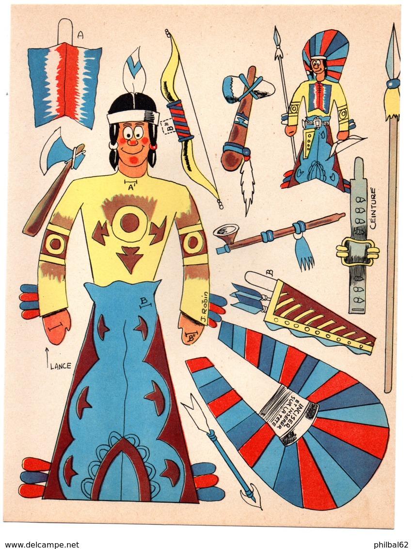 Découpage En Carton, Personnage Humoristique. Editions Mondiales, L'Intrépide. L'indien. - Victorian Die-cuts