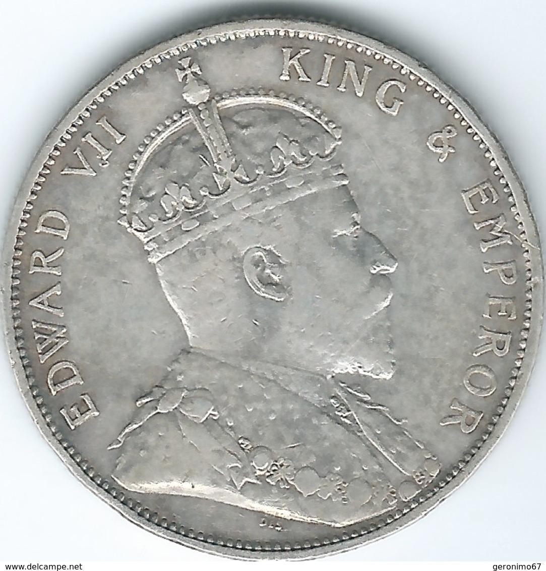 Hong Kong - Edward VII - 50 Cents - 1902 (KM15) Only 100,000 Minted - Hong Kong