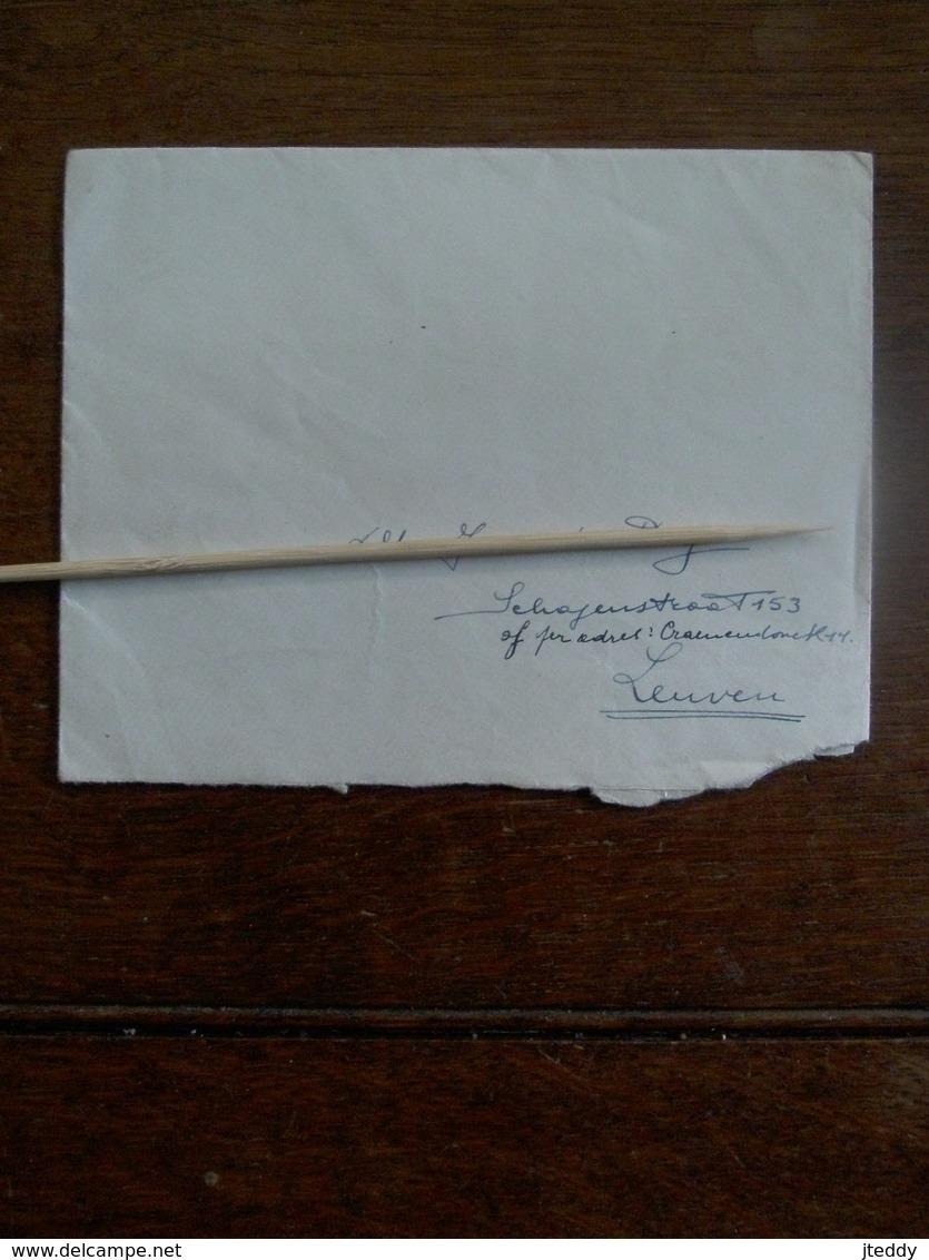Oude Brief Omslag  Met Sluitzegel  VL . YZERGEDENKTEEKEN  Brengt Steenen Aan------  Van ASSHE Naar LEUVEN - Cachets Généralité