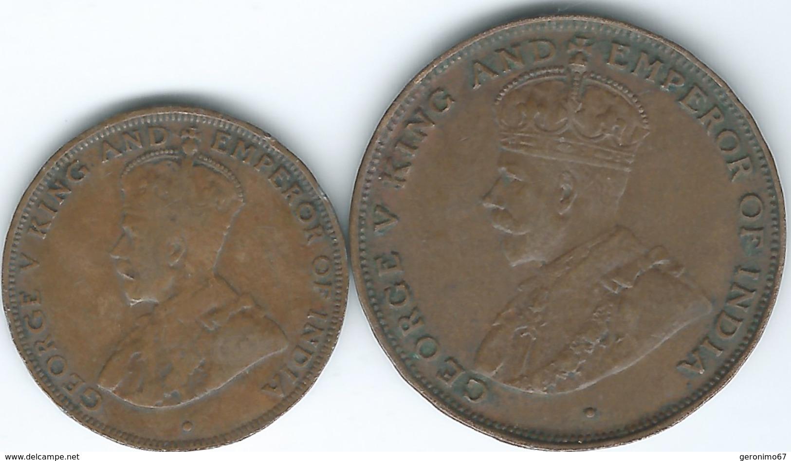 Hong Kong - George V - 1 Cent - 1923 (KM16) & 1931 (KM17) - Hong Kong