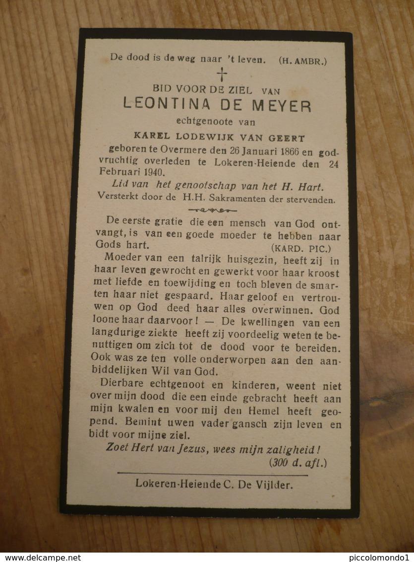 Overmere Lokeren Heiende Leontina De Meyer 1866 1940 - Images Religieuses