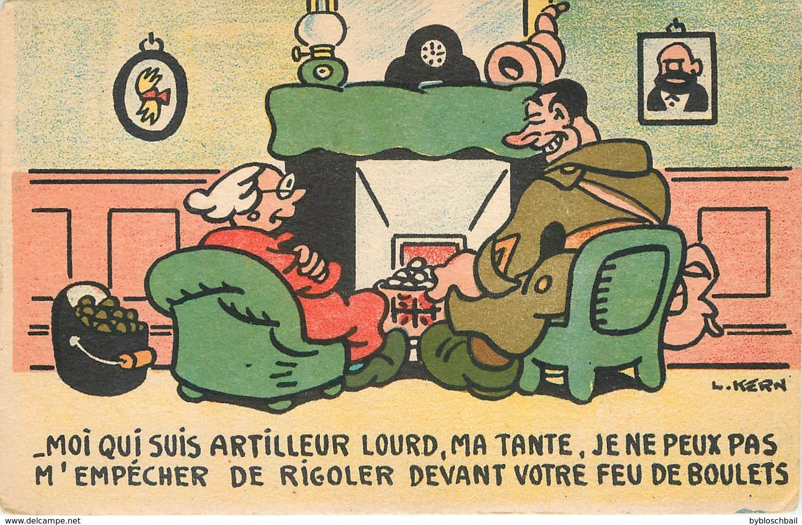 CPA Humour Militaire - L.KERN - Moi Qui Suis Artilleur Lourd... Collection Comique Militaire Boulets - Humoristiques