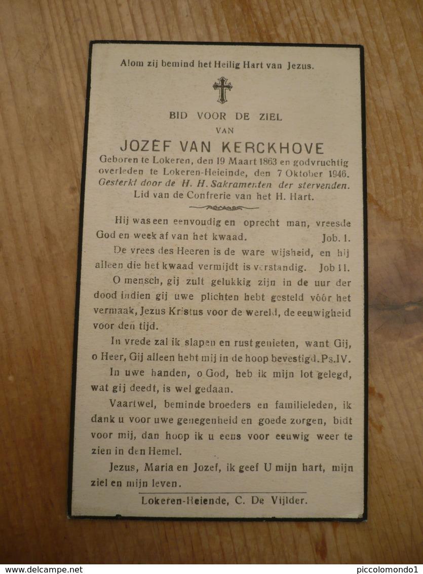 Lokeren Heiende Jozef Van Kerckhove 1863 1946 - Images Religieuses
