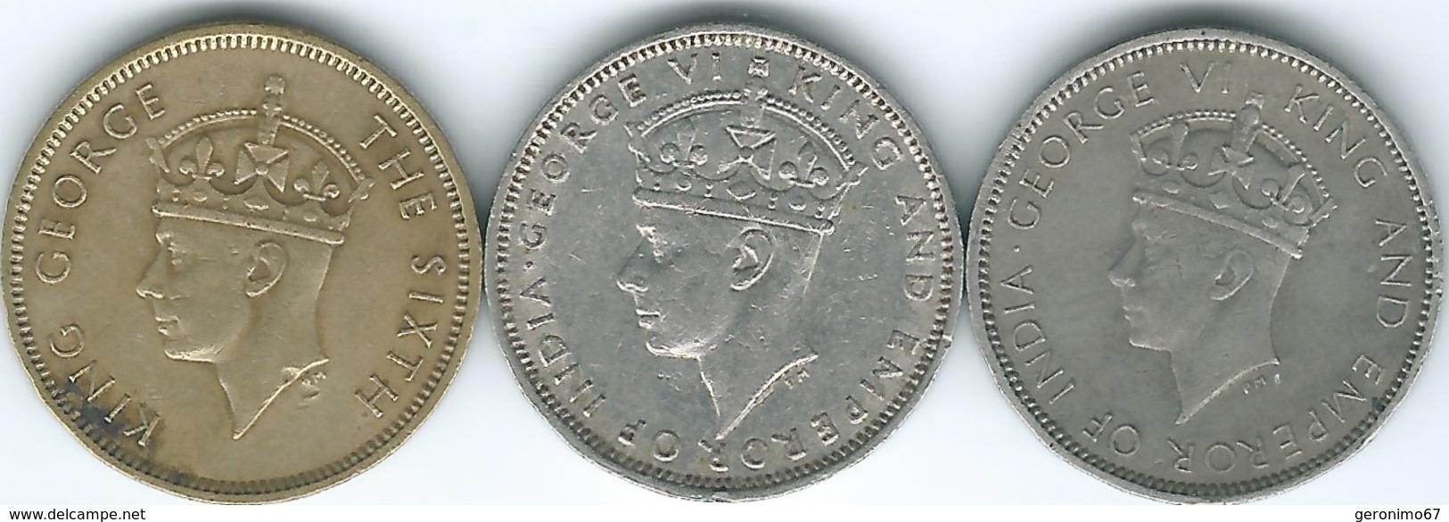 Hong Kong - George VI - 10 Cents - 1937 (KM21) 1938 (KM23) & 1949 (KM25) Security Edges - Hong Kong