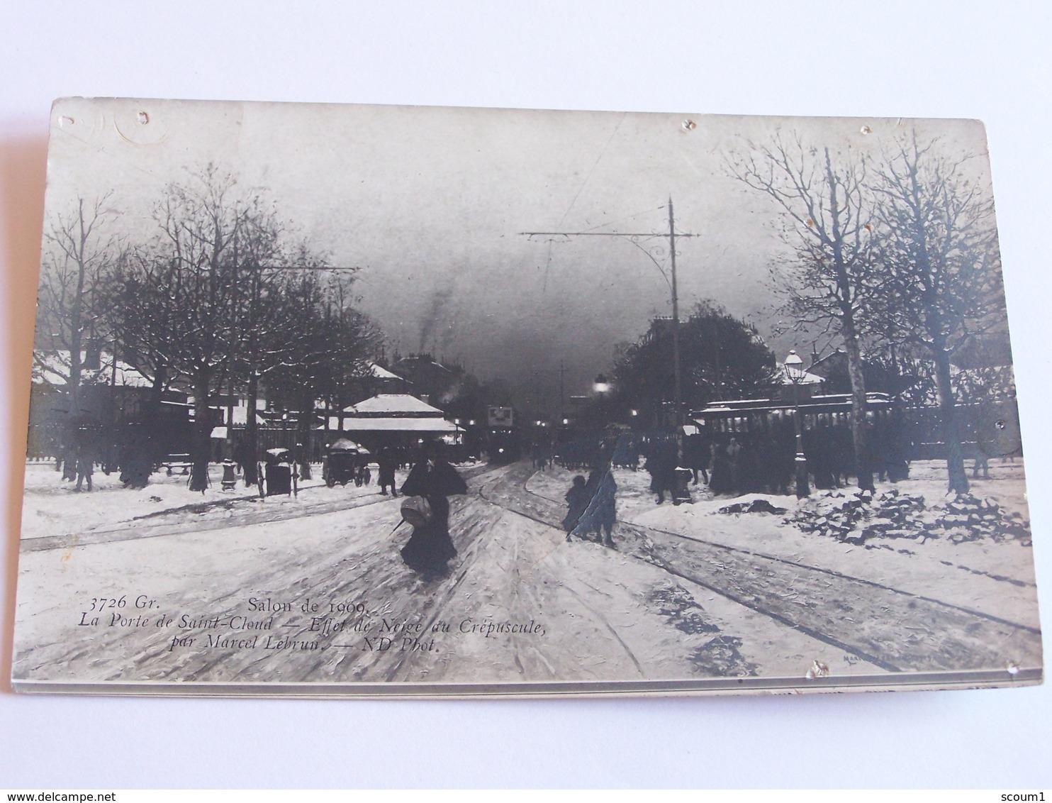 La Porte De St Cloud - Affet De Neige Du Crépuscule Par Marcel Lebrun - Arrondissement: 16