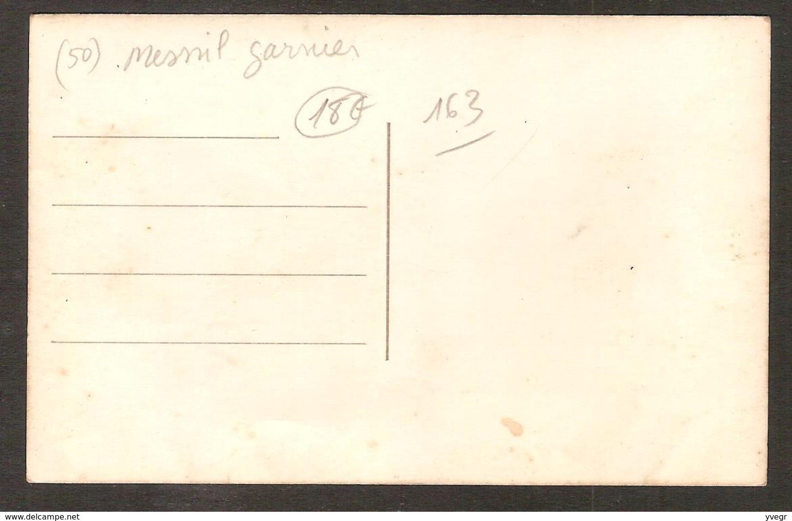 - RARE Carte-Photo De Mariage ( 50 Manche ) Mesnil-Garnier ( à Localiser ?) - France
