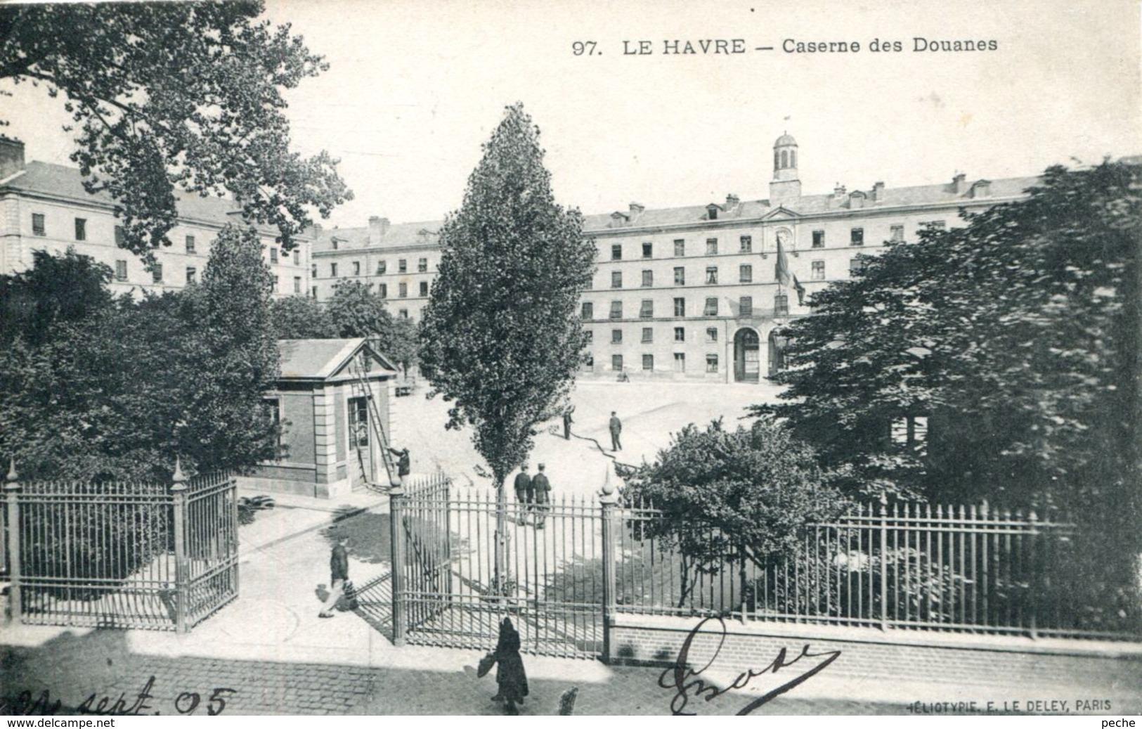 N°70269 -cpa Le Havre -Caserne Des Douanes- - Autres