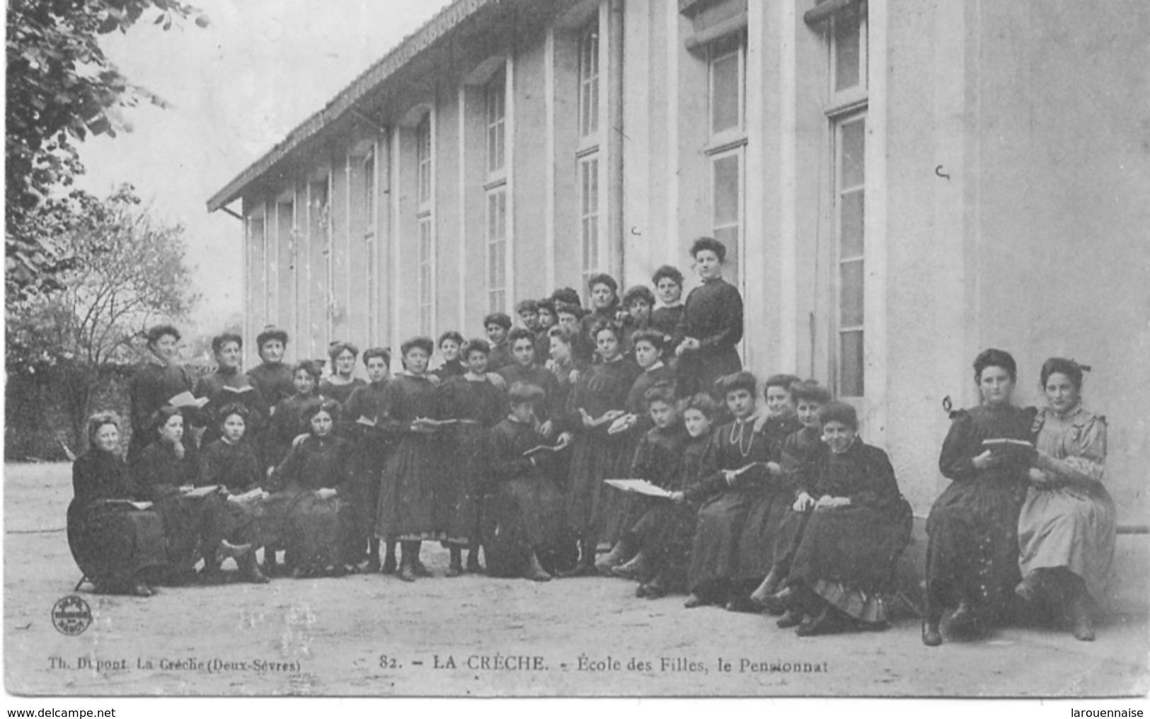 79 - La Crèche  : Ecole Des Filles, Le Pensionnat. - France