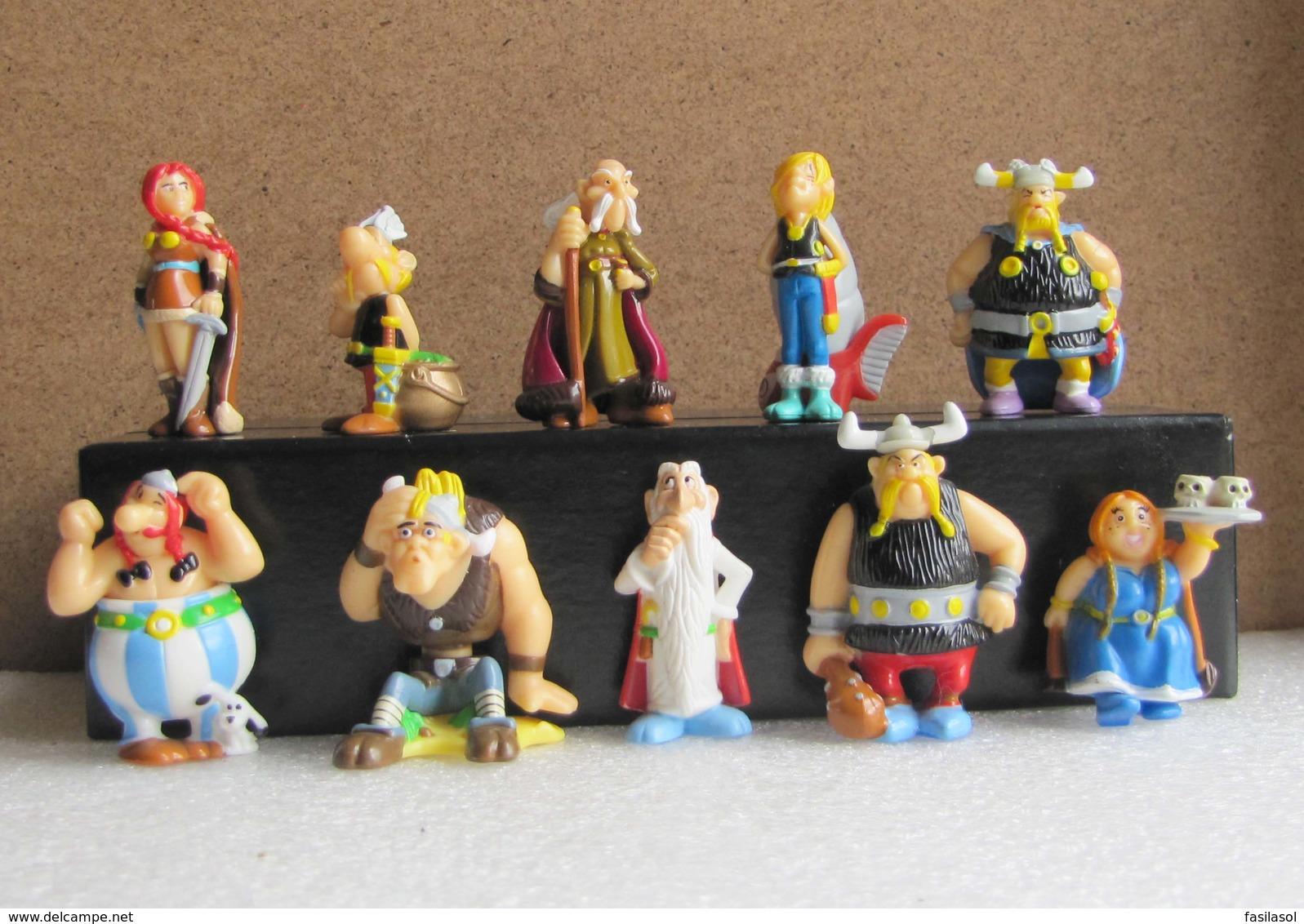 Kinder 2007 : Série Complète : Astérix Et Les Vikings (10 Figurines Avec 1 BPZ) - Asterix & Obelix
