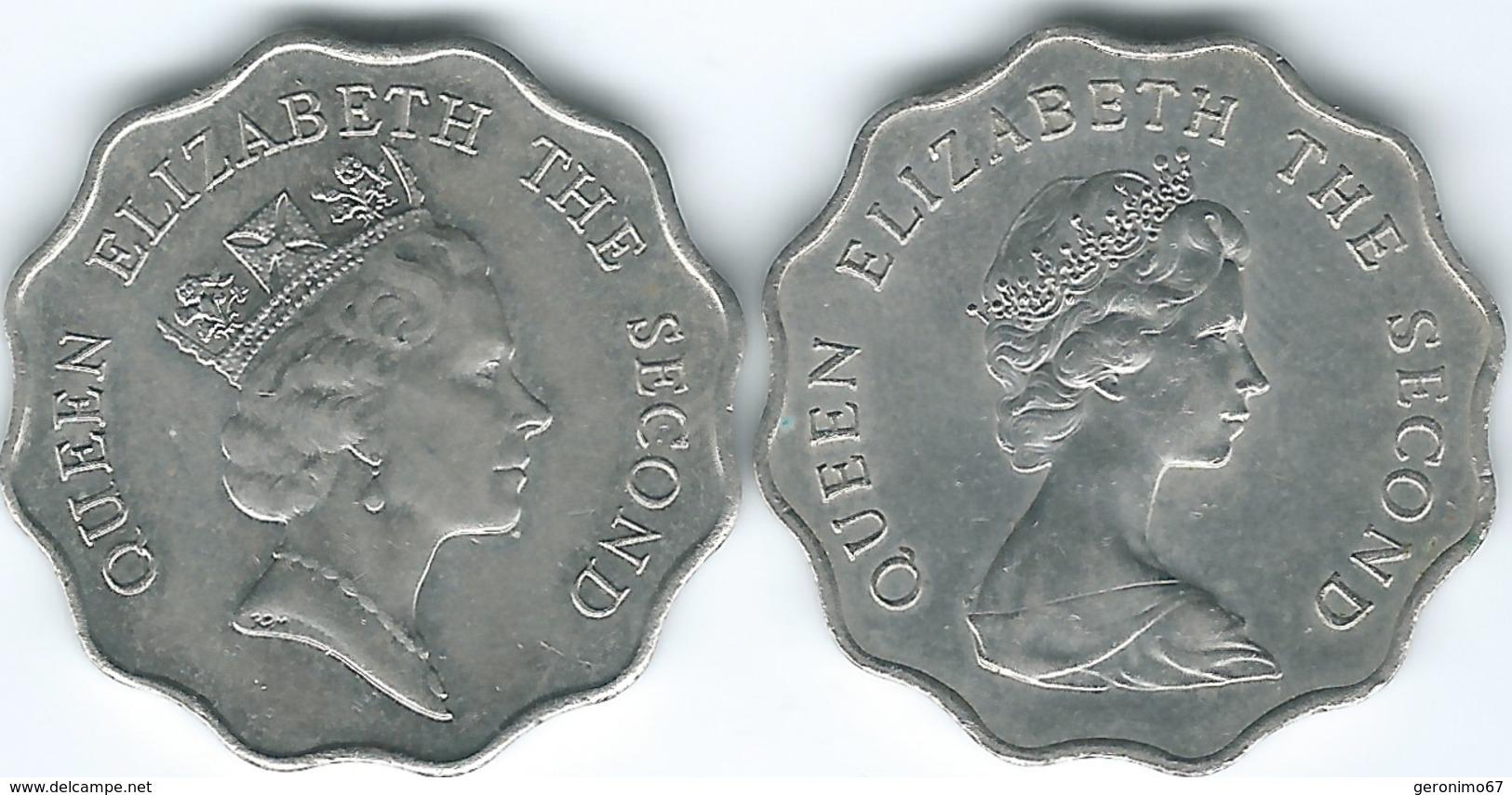 Hong Kong - Elizabeth II - 2 Dollars - 1980 (KM37) 1989 (KM60) - Hong Kong