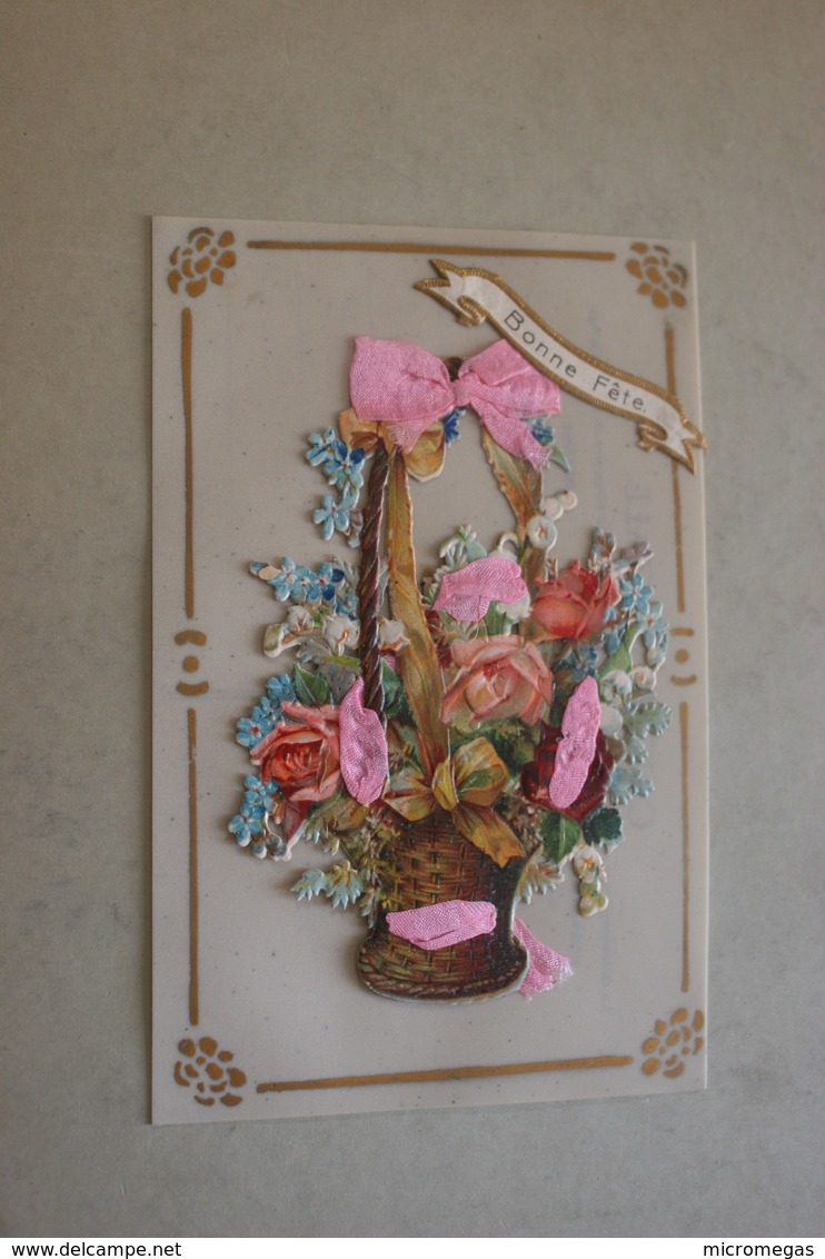 Bonne Fête - Carte Celluloïd - Fantaisies