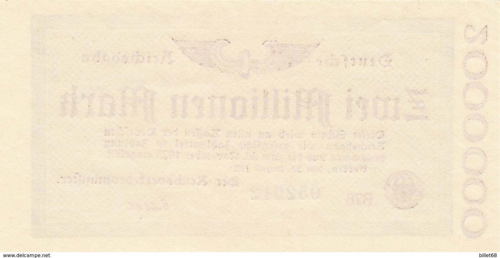 Billet Allemand - Deutsche Reichsbahn - 2 Millionen - Berlin 1923 - 2 Millionen Mark