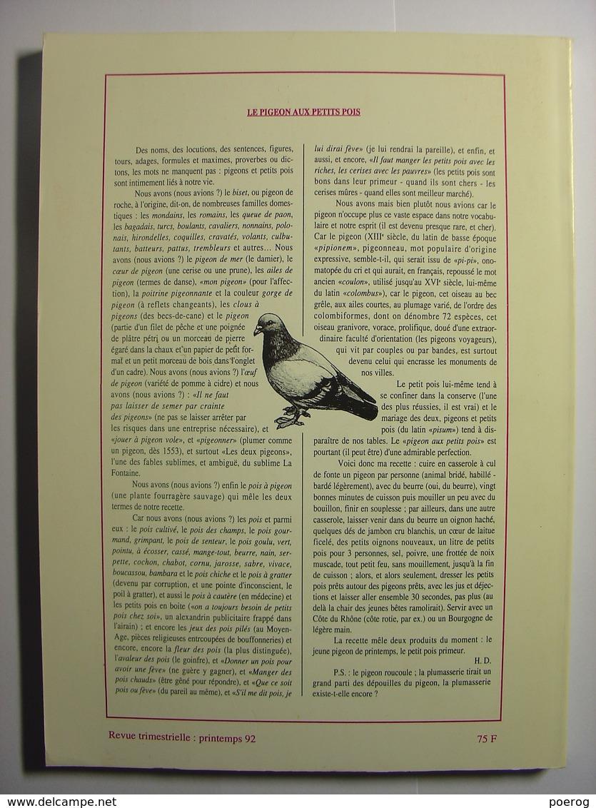 ACTION POETIQUE N°126  1992 - JACQUES ROUBAUD ANNE TALVAZ VERONIQUE PITTOLO JEAN BERTHIER CHRISTIAN PRIGENT HUBERT LUCOT - Poésie