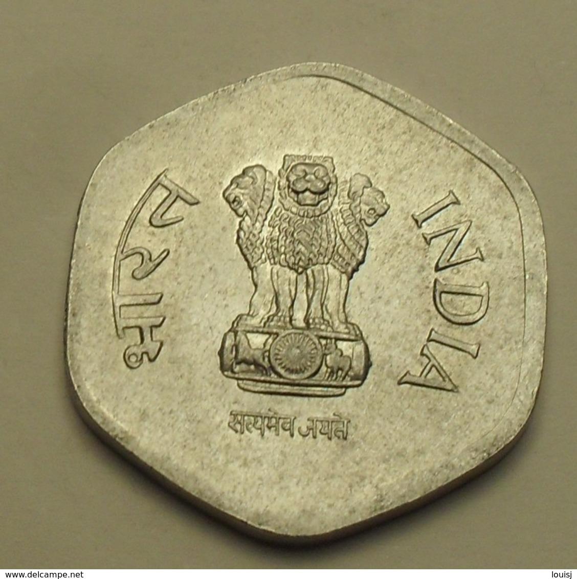 1984 - Inde République - India Republic - 20 PAISE, H, Hyderabad, Star, KM 44 - Inde