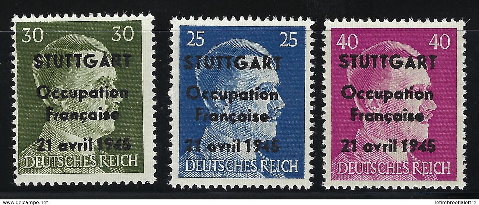 France, Libération, Stuttgart, 3 Valeurs ** TB - Libération