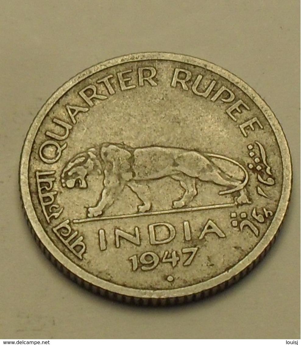 1974 - Indes Britanniques - India British - 1/4 RUPEE, B, GEORGE VI, KM 548 - Inde