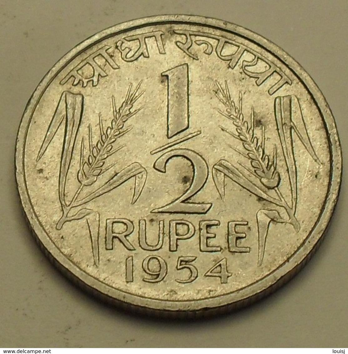 1954 - Inde République - India Republic - 1/2 RUPEE, Calcutta, KM 6.2 - Inde