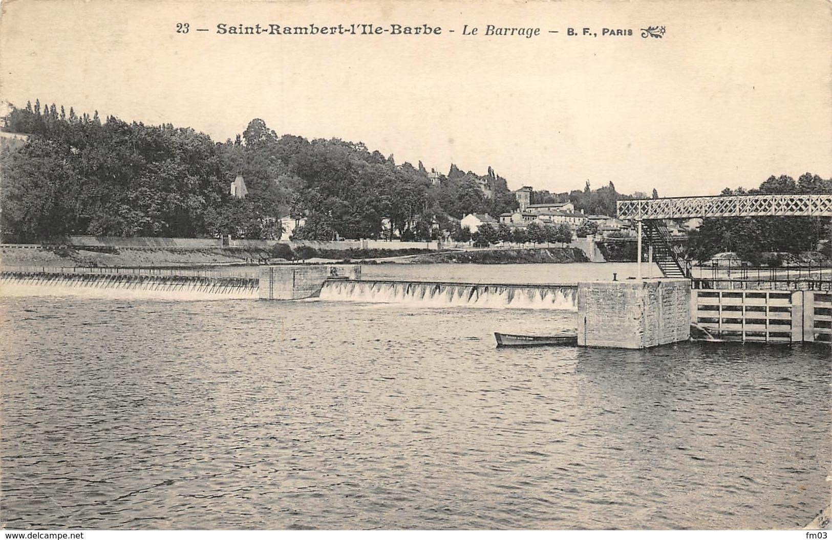 Lyon 9 Saint Rambert Ile Barbe Et Caluire écluse Péniche Péniches - Lyon