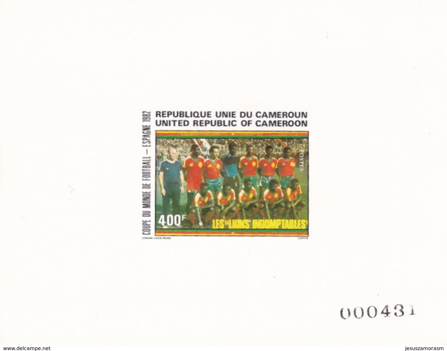 Camerun Nº 693 Al 696 En PRUEBAS Una Con Manchas - 1982 – Espagne