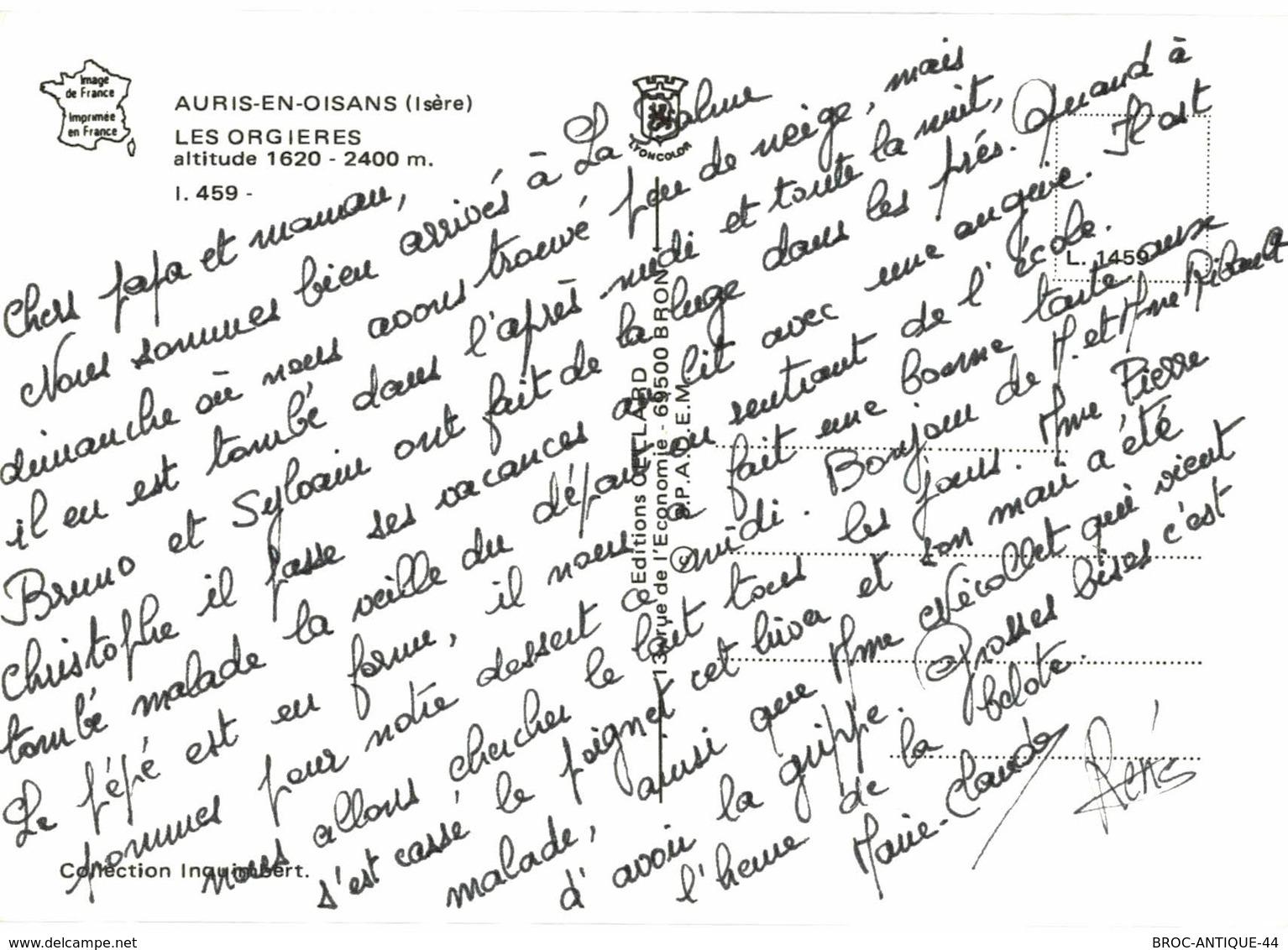 CPM* N°2048 - AURIS EN OISANS - LES ORGIERES - France