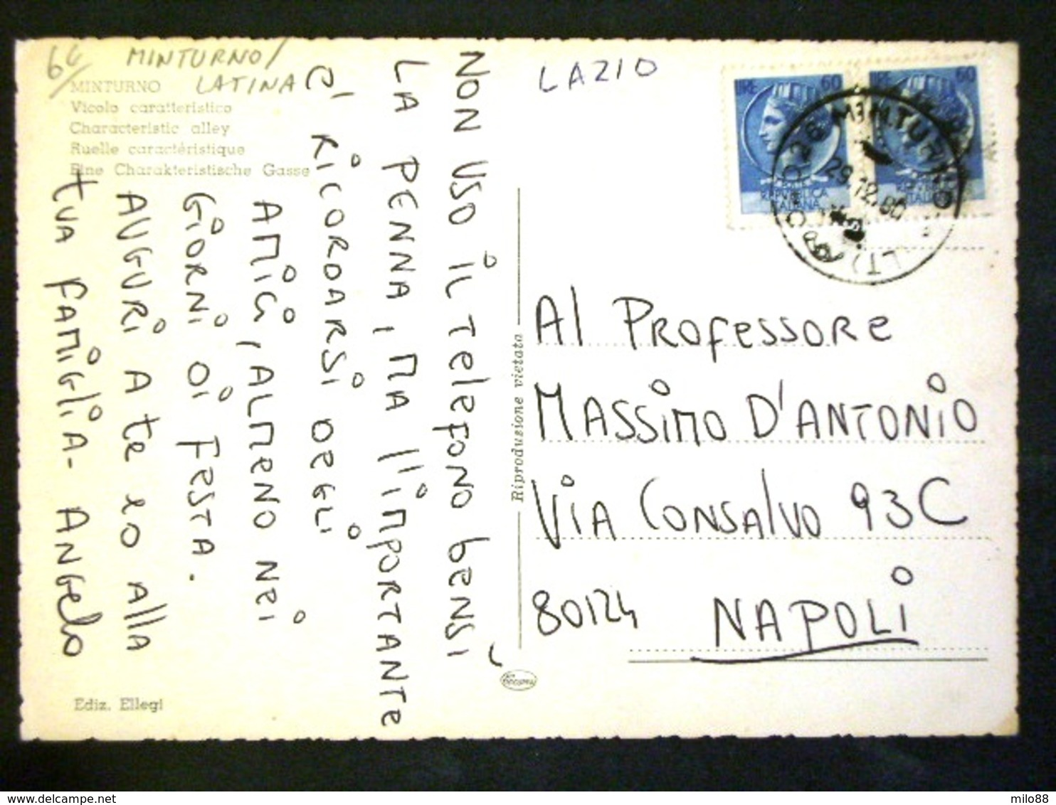 TOSCANA -LATINA -MINTURNO -F.G. LOTTO N°451 - Latina