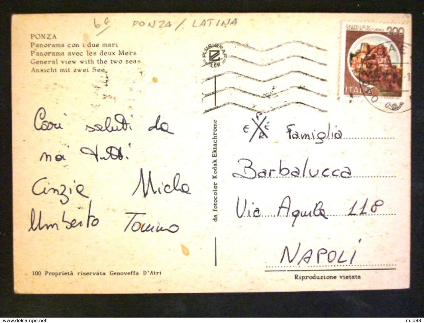 TOSCANA -LATINA -PONZA -F.G. LOTTO N°451 - Latina