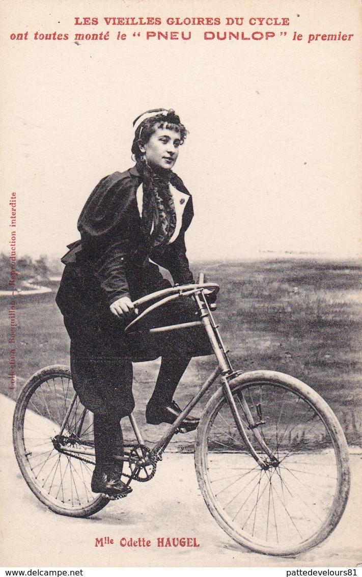 CPA Sport Cyclisme Vélo Coureur Femme Cycliste Les Vieilles Gloires Mlle Odette HAUGEL Cycling Radsport (2 Scans) - Cyclisme