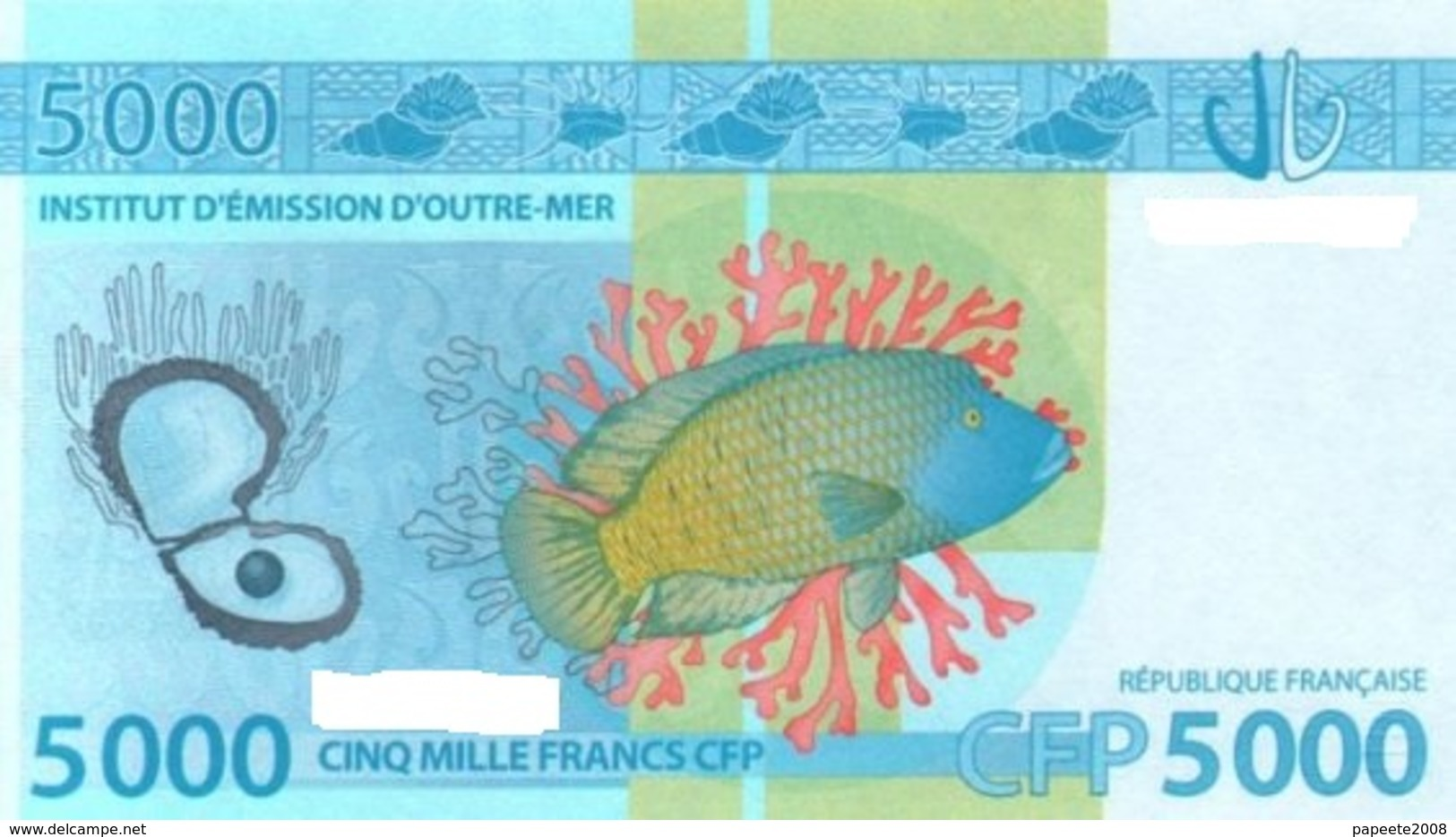Polynésie Française - 5000 FCFP - 2014 - N° 397747 E7 / Signatures Noyer-de Seze-La Cognata - Neuf  / Jamais Circulé - Papeete (Polynésie Française 1914-1985)