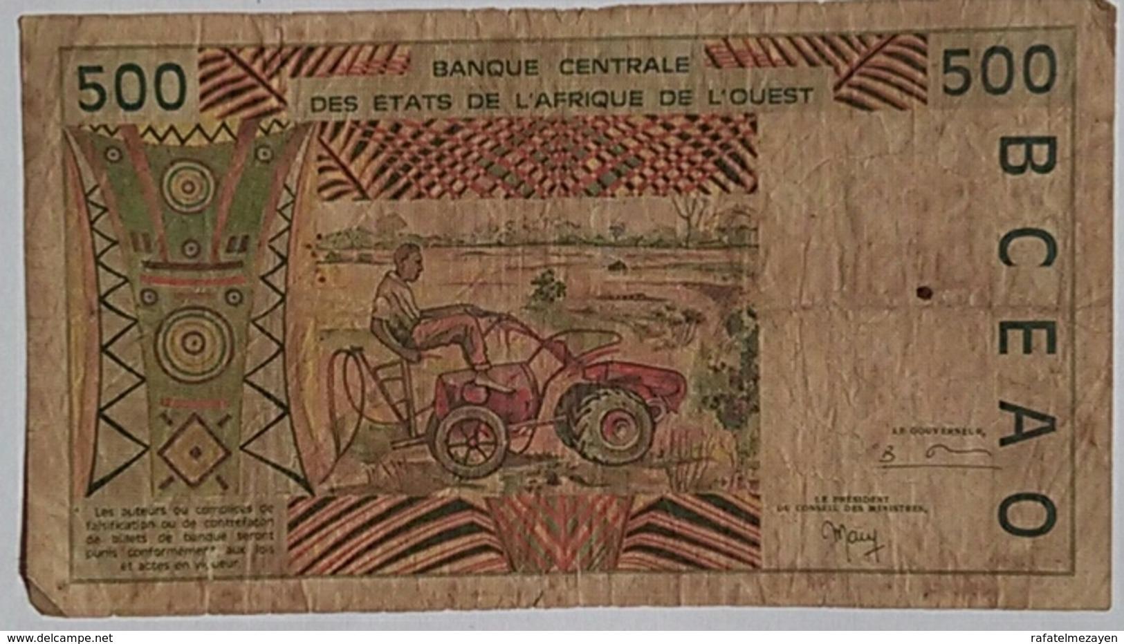 Burkina Faso  500 Francs West Africa - Burkina Faso