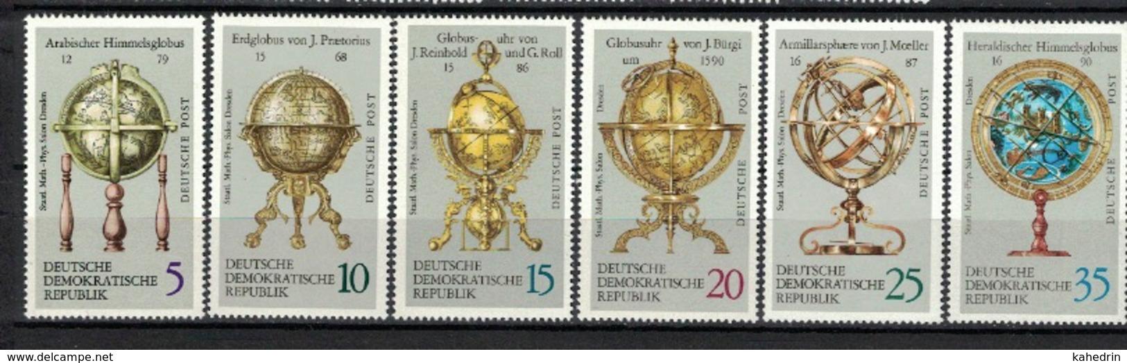 DDR 1972, Globus Globen Globes **, MNH - Geographie