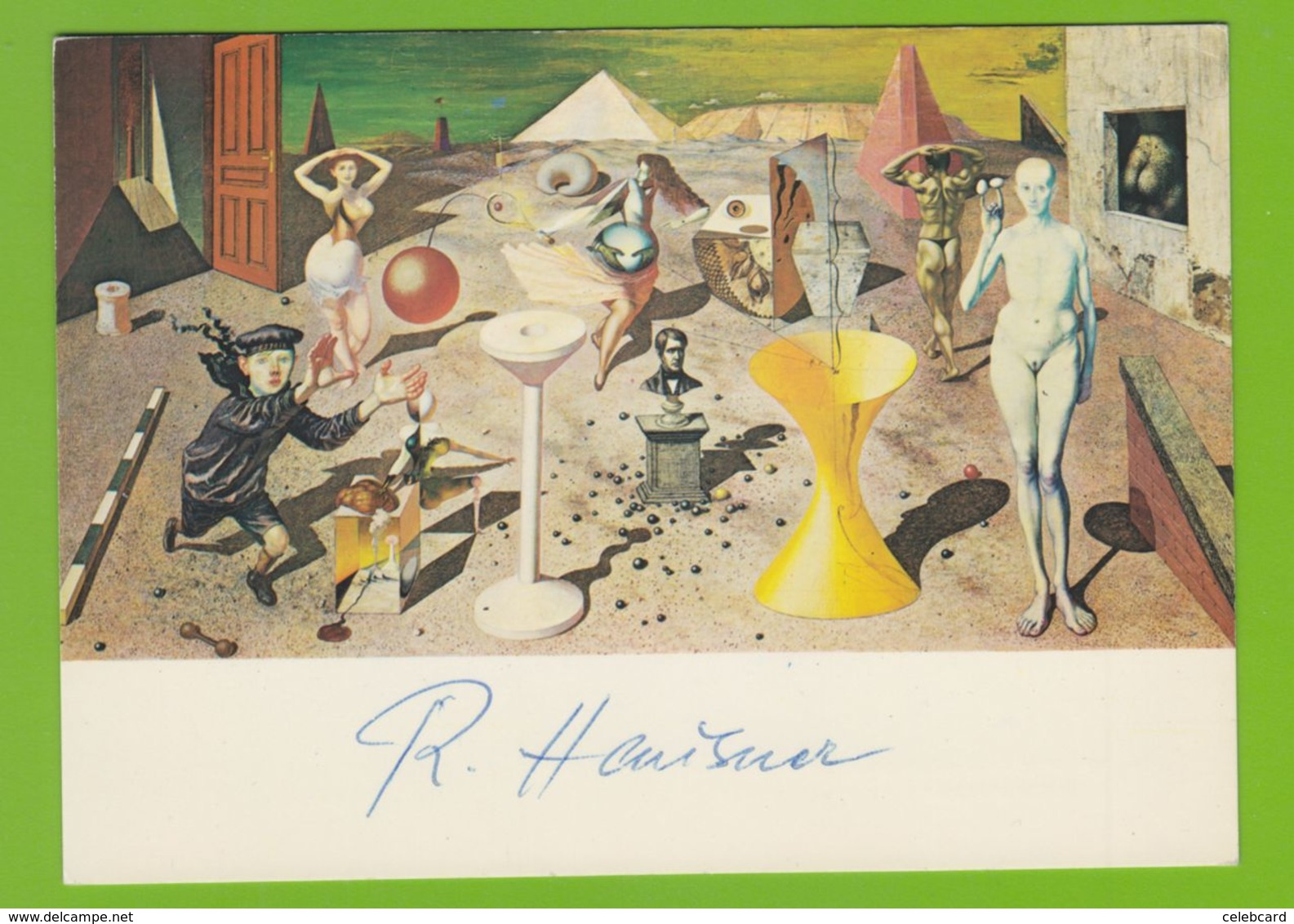 RUDOLF HAUSNER  AUTOGRAPH / AUTOGRAMM  Art Postcard 10/15 Cm - Autographs