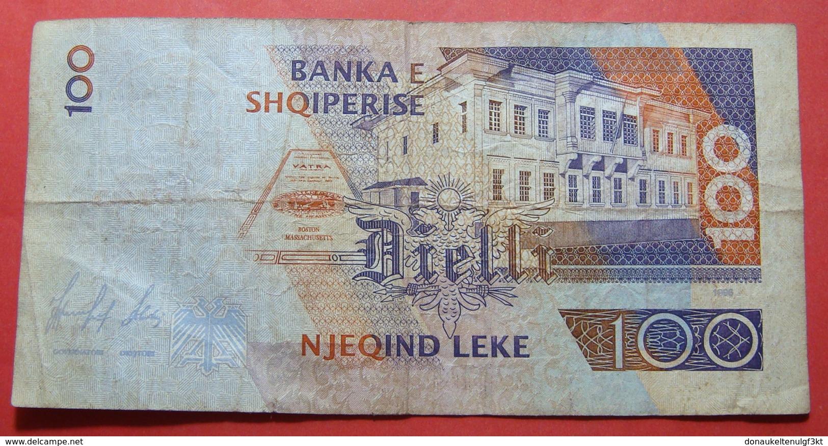 ALBANIA 100 LEKE 1996 KN 586977 - Albanie