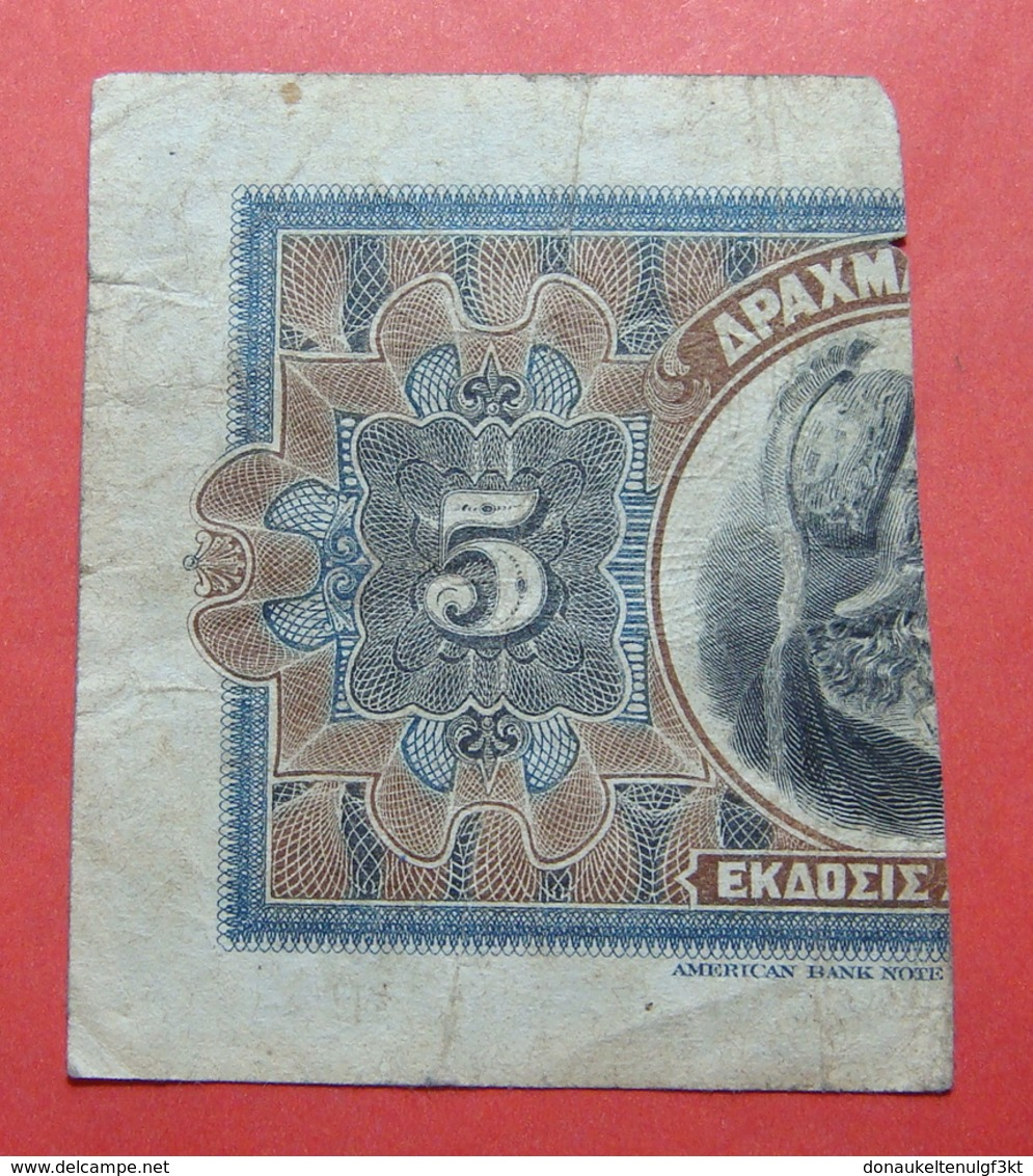 GREECE 5 (2.5 Drachmai) DRACHMAI 1918 - Grèce