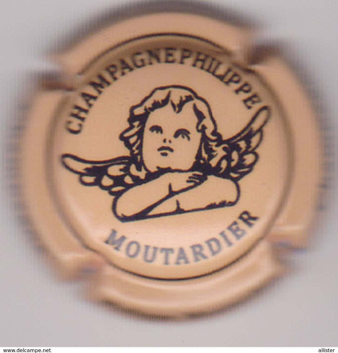 Capsule Champagne MOUTARDIER Philippe ( 29b ; Jaune-orangé Et Noir ) {S08-19} - Champagne