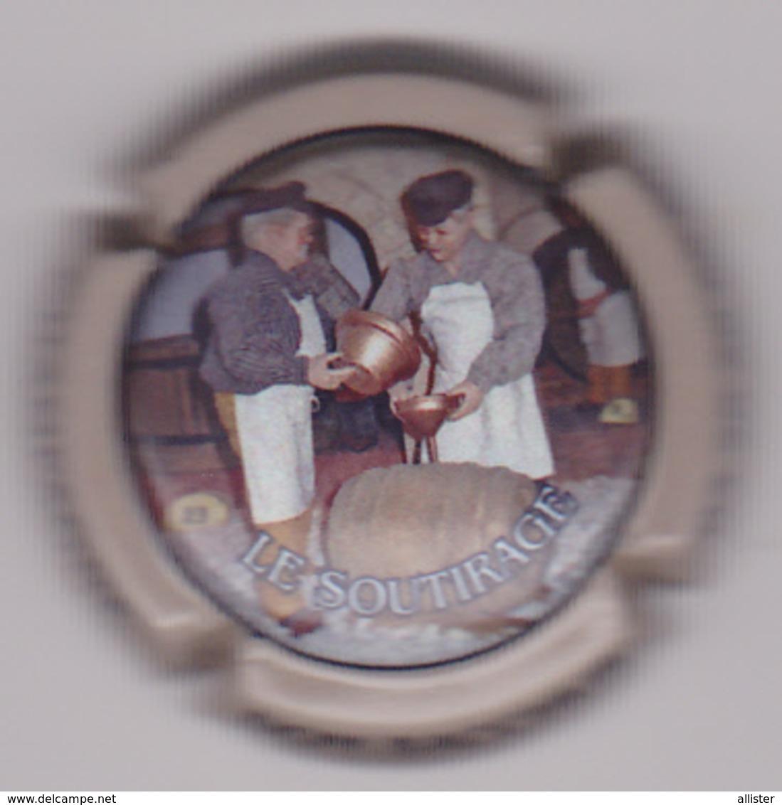 Capsule Champagne BILLARD DOMAINE BACCHUS ( Nr ; LE SOUTIRAGE Contour Gris-crème ) {S08-19} - Champagne