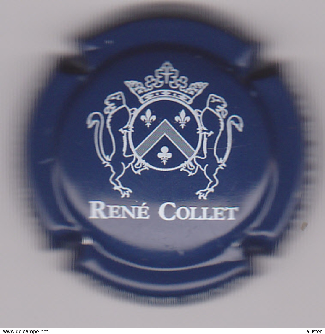Capsule Champagne COLLET René ( 5 ; Bleu Foncé Et Blanc ) {S08-19} - Champagne