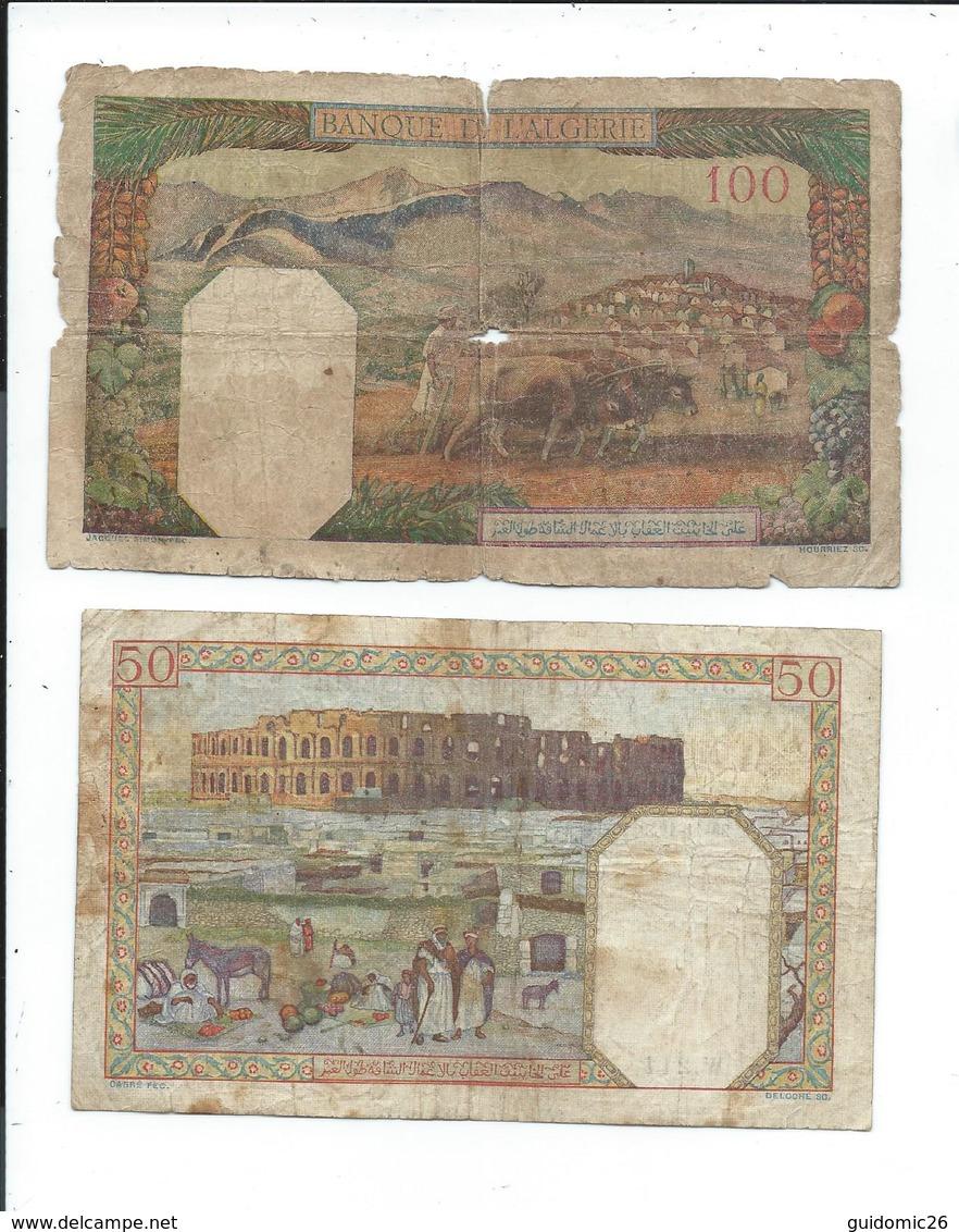 Algerie Lot De 2 Billets Anciens - Algérie