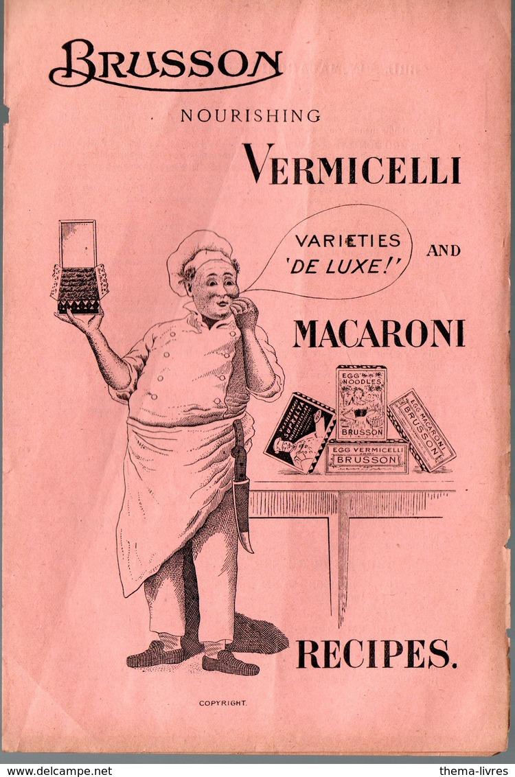 Villemur (31 Haute Garonne) BRUSSON  / Vermicelli And Macaroni , Recipes  (PPP10195 - Publicités