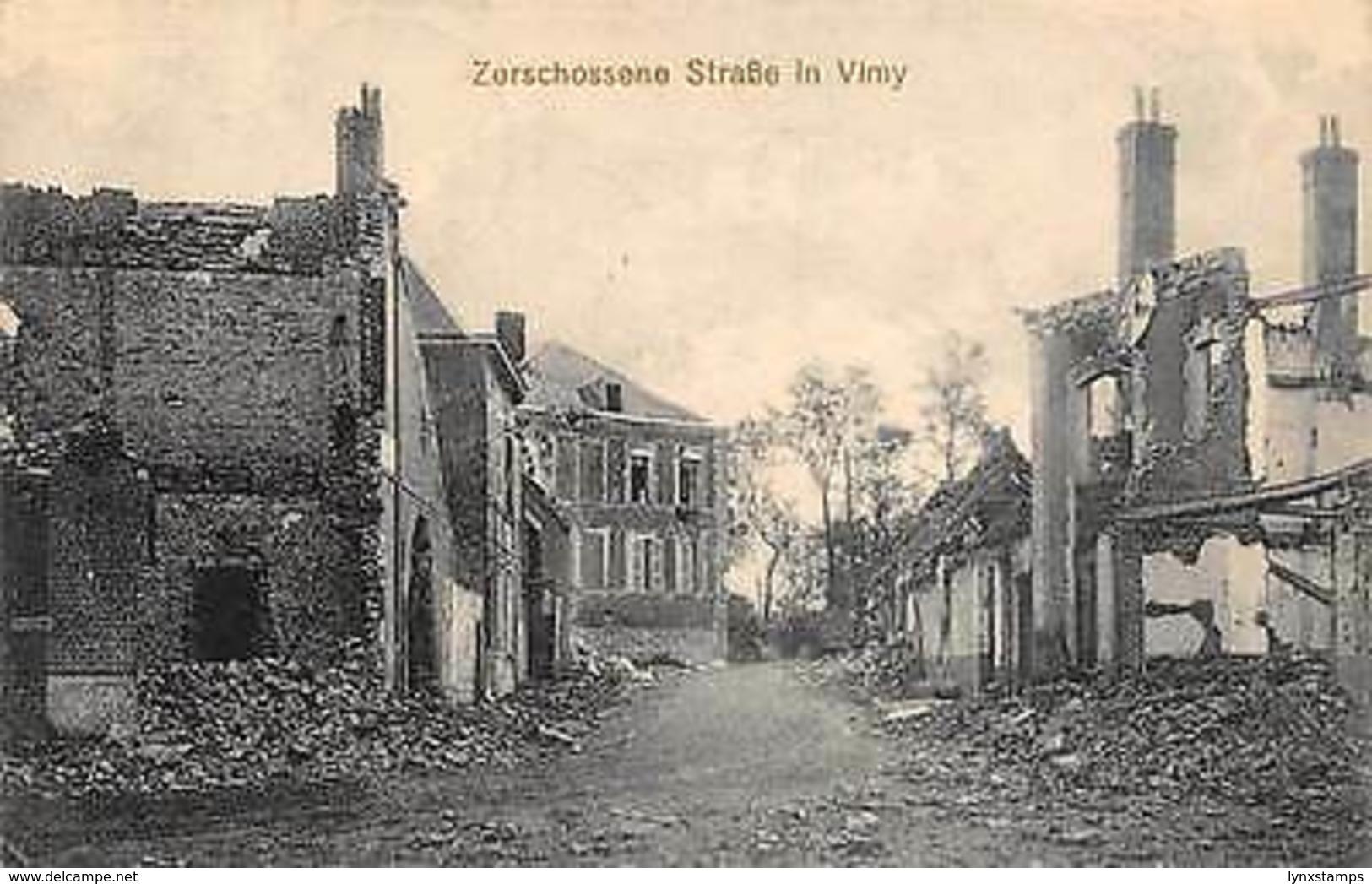 Zerschossene Strasse In Vimy RUins Village Street - Autres